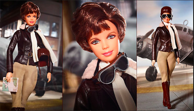Barbie Inspired AMELIA EARHART Inspiring Women Collectible doll IN HAND