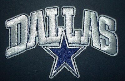 Dallas Cowboys Embroidered PATCH4 x 2 58Iron or Sew onNFLShips FREE