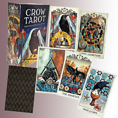 CROW TAROT BY MJ CULLINANE- 88-PAGE Guide Booklet FORTUNE TELLING