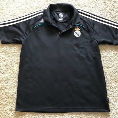 Real Madrid FC Soccer Adidas Climalite Polo Shirt Mens Size Large