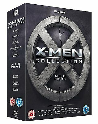 X-Men Collection - All 8 Films Box Set 1-8 Blu-ray 8 Discs Region Free NEW
