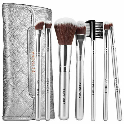 SEPHORA COLLECTION Deluxe Anti-bacterial Brush Set 7 piece-bag NEW Auth 62