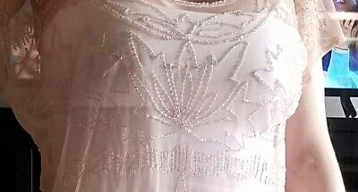Forever 21 Small Petite Sheer Beaded Top