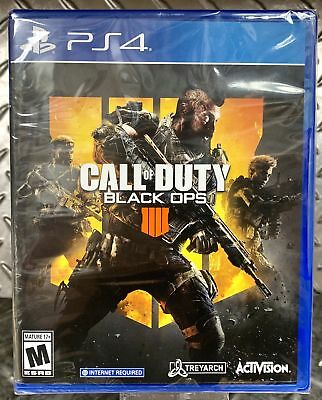 Call of Duty Black Ops 4 Sony PlayStation 4 2018 - FACTORY SEALED