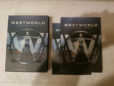 Westworld - Season 1 DVD - Mint Condition - 2017 Warner Bros-