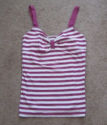 american eagle outfitters v neck tank Womens Large purple white stripe