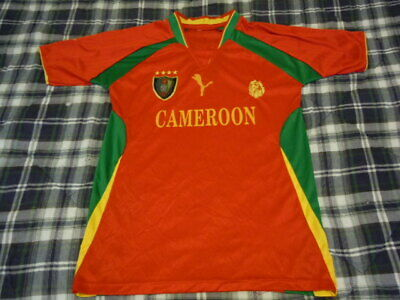 CAMEROON Football WORLD CUP Soccer Jersey - SEWN LOGO - Adult Mens Small S