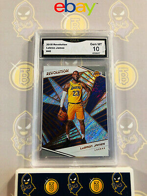 2018 Revolution Lebron James 40 Lakers - 10 GEM MT GMA Graded Basketball Card