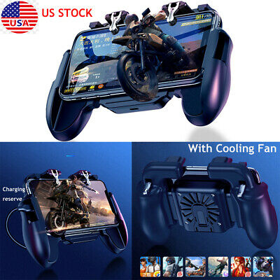 Mobile Phone Game with Cooling Fan Controller Gamepad Trigger For PUBG Fortnite
