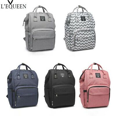 LEQUEEN Baby Diaper Bag Waterproof Mummy Maternity Nappy Travel Fashion Backpack