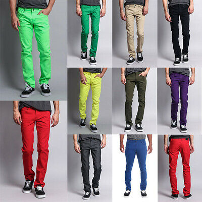 Victorious Mens Spandex Color Skinny Jeans Stretch Colored Pants   DL937-PART-2