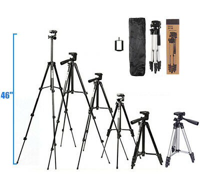 46 Professional Camera Tripod Stand Holder Mount for iPhoneSamsung Cell Phone