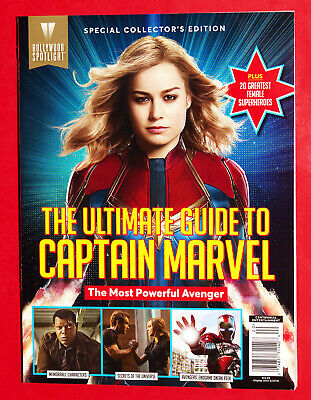 Ultimate Guide BOOK To Captain Marvel HOLLYWOOD SPOTLIGHT 2019 Brie Larson
