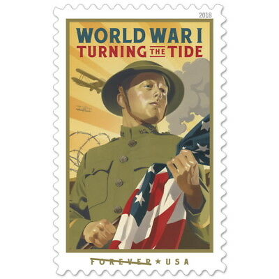 USPS New World War I Turning the Tide Pane of 20