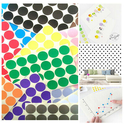 5X ALL SIZE Dot Stickers Round Colorful Spot Dots Paper Labels Circles   Tool Z