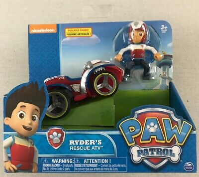 Original Paw Patrol Ryders Rescue ATV Vehicle and Figure works with Patroller