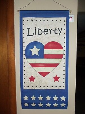New Patriotic 4th of July Wall Flag Americana Banner Decoration Stars - Stripes