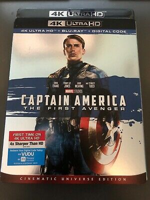 Marvels Captain America The First Avenger 4K Blu-Ray - Digital New W Slip