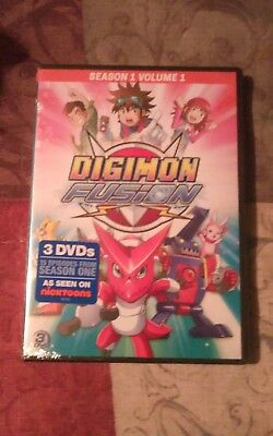 Digimon Fusion Season 1 - Volume 1 DVD 2015 3-Disc Set Brand New Sealed