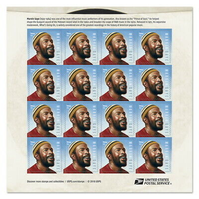 USPS New Marvin Gaye Pane of 16