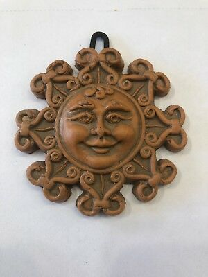 Sicilian Pottery-3 Inch Sun Face Caltagirone-Made by hand in Italy