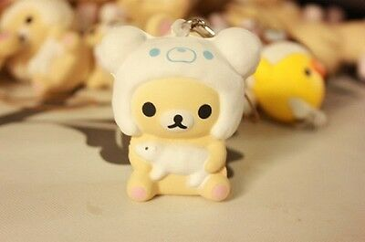 1 pc New WHITE KORILAKKUMA HOLDING A LAMB squishy cell phone charm SO CUTE