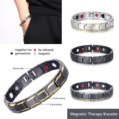 Therapeutic Energy Bracelet - Magnet Therapy Bracelet Health Care Men Style
