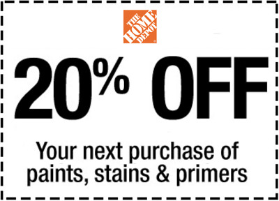 Home Depot 20 off Paint Stain primers In Store fastest delivered