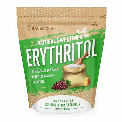 Erythritol Sweetener Natural Sugar Substitute 3lb - Granulated Low Calorie Sweet