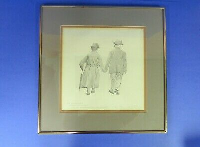 Robert Sexton THE VOW Framed Ink Dot Drawing Litho Print Signed LE  29500
