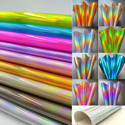 3D Holographic Mirrored Metallic Vinyl Faux Leather Bag Dress Fabric Craft Cloth