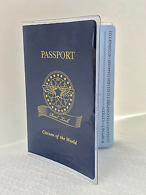 Passport Protector Clear Cover Vinyl Case sturdy Plastic Holder Passport Sleeve
