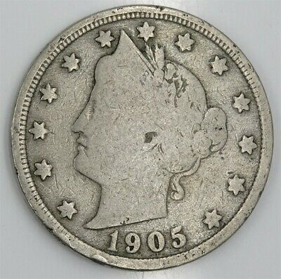 One Circulated  Liberty Head V Nickel    Assorted Dates  1883 to 1912   LHNA