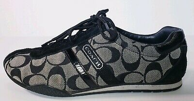 Coach Womens Remonna GrayBlack Logo Casual Lace Up Sneakers Size 8