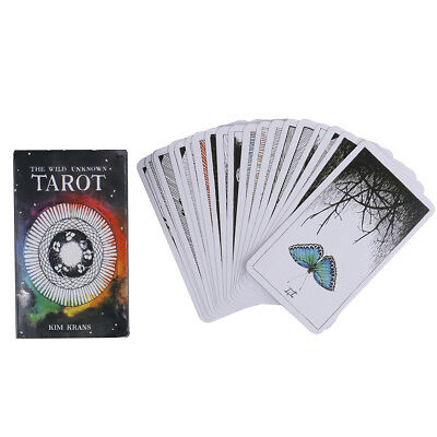 78pcs the Wild Unknown Tarot Deck Rider-Waite Oracle Set Fortune Telling Cards -