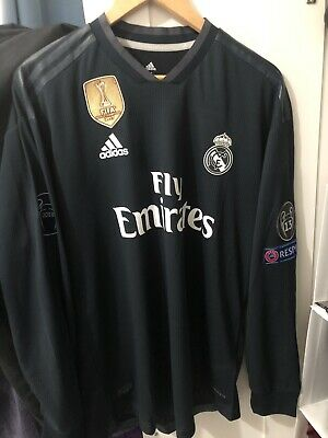 Adidas Real Madrid UCL Away Jersey 1819 BlackWhite Size M