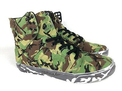 ROTHCO X SUPRA SKYTOP SHOES GRN CAMO CANT SEE ME EUR 44 MENS US SIZE 10