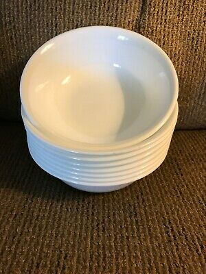 Eight 8 Corelle Winter Frost White 6 14 Cereal Bowls