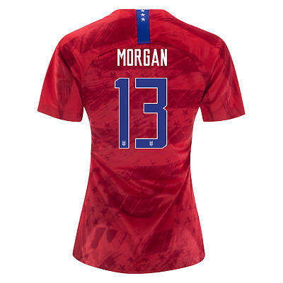 NIKE ALEX MORGAN 13 USA 2019 WORLD CUP 3 STAR RED WOMENS YOUTH JERSEY PATCH