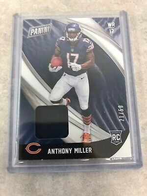 ANTHONY MILLER 2018 PANINI BLACK FRIDAY RC ROOKIE GAME JERSEY 50