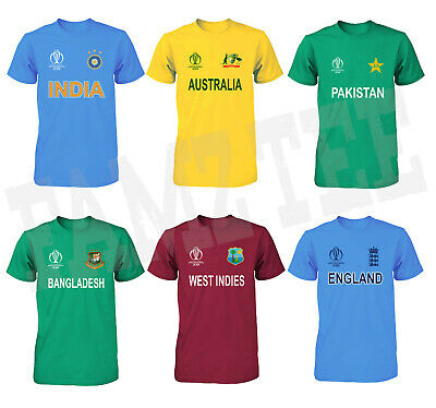 Cricket World Cup 2019 Jersey T Shirt 100 Cotton Tee