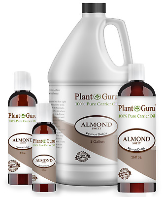 Sweet Almond Oil 100 Pure Organic Carrier For Skin Face Hair Growth - Massage