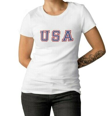 Womens USA T Shirt Patriotic 4th Of July America Merica American Fourth Of July