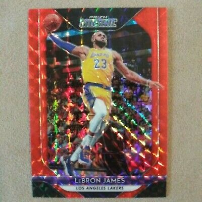 LEBRON JAMES 2018-19 Prizm Mosaic ORANGE refractor card 99 Los Angeles Lakers