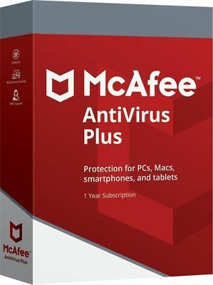 MCAFEE ANTIVIRUS PLUS 2020 UNLIMITED DEVICES 1 YEAR-PC ANDROID IOS IPHONE