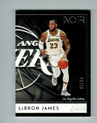 LEBRON JAMES 2018-19 PANINI NOIR BASE CARD 18 ED 385 LAKERS