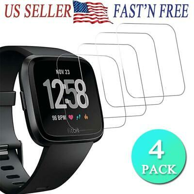 4PACKS 9HD Tempered Glass Screen Protector Cover for Fitbit Versa Edition
