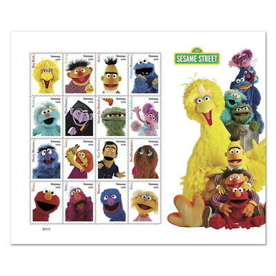 USPS New Sesame Street Pane of 16