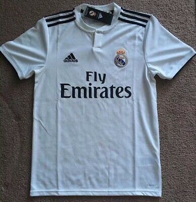 Real Madrid Adidas Climalite Men Small Home Soccer Jersey