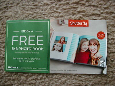 Shutterfly Free 8 x 8 20 page HardCover Photo Book 29-99 Code Exp 07312019
